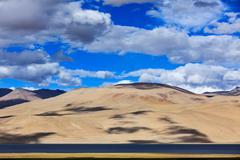Stock Photo of Himalayan mountain lake in Himalayas Tso Moriri (official name: Tsomoriri Wet