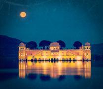 Jal Mahal palace.  Jaipur, Rajasthan, India - stock photo