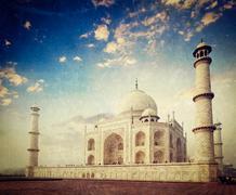 Taj Mahal on sunrise sunset, Agra, India Stock Photos