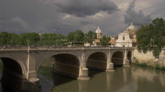 Ponte Cavour Bridge in Rome, Italy Stock Footage