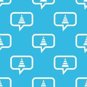 Traffic cone message pattern - stock illustration