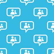 Contacts message pattern Stock Illustration