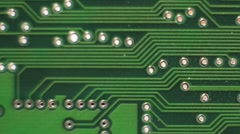 Pan Across a Printed Circuit Board - stock footage