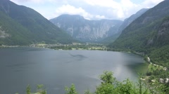 4k Lake and mountain view from Austria alp meadow Stock Footage