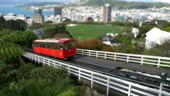 Wellington Cable Car New Zealand - stock footage