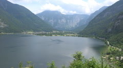Stock Video Footage of Lake and mountain view from Austria alp meadow