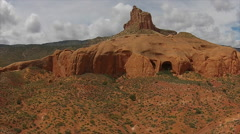 Red rocks, sandstones and deser vegetation Utah Landscapes Stock Footage