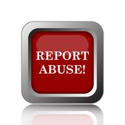 Stock Illustration of Report abuse icon. Internet button on white background.