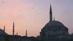 Rustem Pasa Cami & Yeni Cami Mosque, Istanbul, Turkey Stock Footage