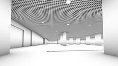 Stock Illustration of Underground  garage parking without cars colorless
