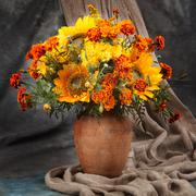 Still life. Autumn bouquet flower - stock photo