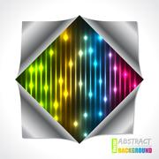 Cool bursting plasma and laser brochure Stock Illustration