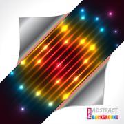 Abstract rainbow plasma laser brochure design Stock Illustration