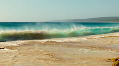 Waves Crashing On A Reef At Hamelin Bay Beach in Australia's South West Stock Footage