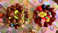 Stock Video Footage of Decorative easter eggs on the table