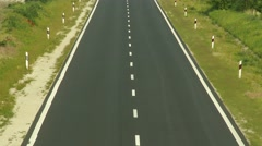 4K Empty Two Lane Highway in Summer 1 Stock Footage