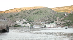 Balaclava, panoramic view of the bay Stock Footage