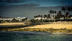 Lanzarote coast - stock photo