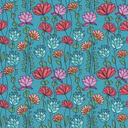 Stock Illustration of Floral seamless pattern