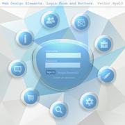 Web design elemets Stock Illustration