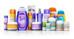 Set of medical supplies, cosmetic and healthcare products - stock photo