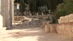 Garden of Gethsemane. Stock Footage
