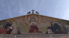Garden of Gethsemane. The Church of All Nations. Stock Footage