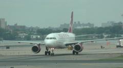 Virgin America jet airplane in 4K Stock Footage