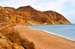 Stock Photo of Algarrobico Beach in the Cabo de Gata-Nijar Natural Park, in Spain