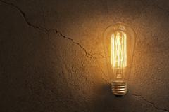 Edison Lightbulb - stock photo