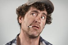 Scared Redneck - stock photo