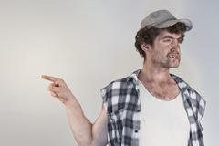Blaming Redneck - stock photo
