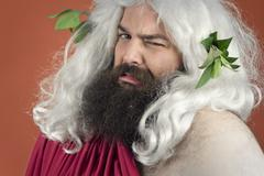 Disgusted God - stock photo