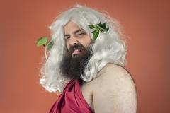 Disgusted Zeus - stock photo