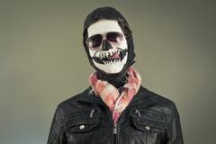 Aviator Skull - stock photo
