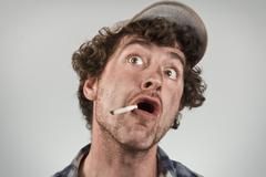 Amazed Redneck - stock photo