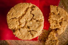 Ginger and treacle or molasses biscuits - stock photo