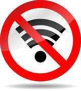 Ban wifi internet Stock Illustration