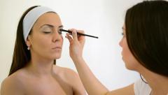 Eye Make-up Stock Footage