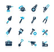 Tools Icons // Azure Series - stock illustration