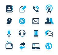 Communications Icons // Azure Series Stock Illustration