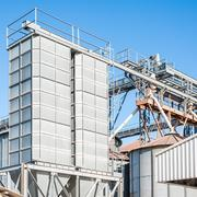 Stock Photo of Storage facility cereals, and bio gas production