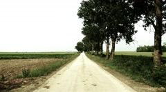 4K Road on Summer Plain 3 stylized Stock Footage