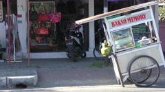 Bali Bakso Street Local Fast Food Trolley 4K Stock Footage