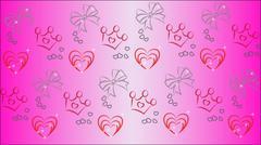 Children Pink beautiful Background - stock illustration