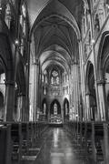 Inside of roman catholic Saint Catharine Church Stock Photos