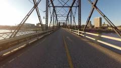 Victoria traffic bridge in Saskatoon Stock Footage