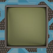 LCD screen on circuit generated texture Stock Illustration
