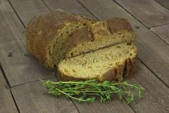 Loaf of wholemeal brown bread - stock photo