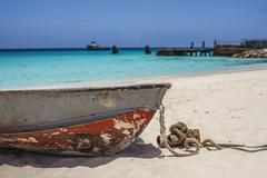 Caribbean dingy Stock Photos